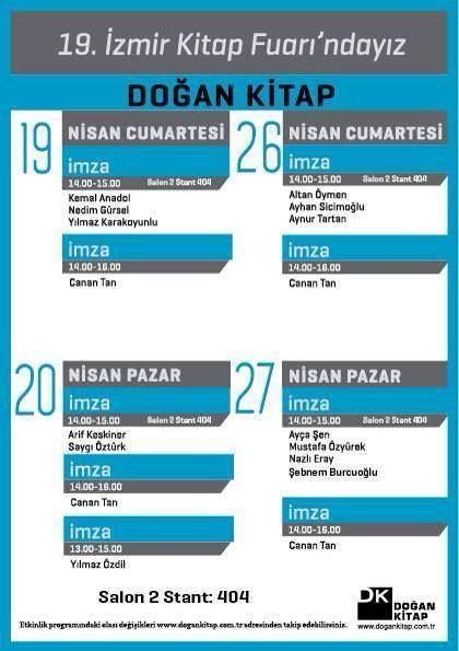 İzmir Kitap Fuarı program