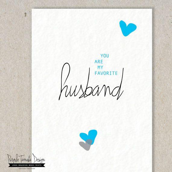 Favorite Husband Card Printable. Valentine Card Husband