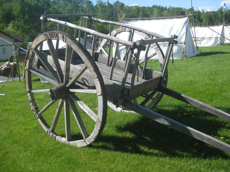 "Red River cart, that was on display at the ""Hills are Alive"" Culture and Music festival in the Cypress Hills, Alberta. Millie Ann and her mother Jean attended June 6 to the 9th, 2013. and took part in the fiddle playing, jigging and sash weaving work shops."