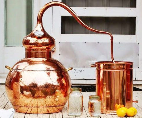 Become the premiere bootlegger in your hometown by using this 10 gallon moonshine still. Handcrafted from copper, each piece comes professionally soldered and can be used for distilling a variety of spirits like whiskey and good old white lightning.