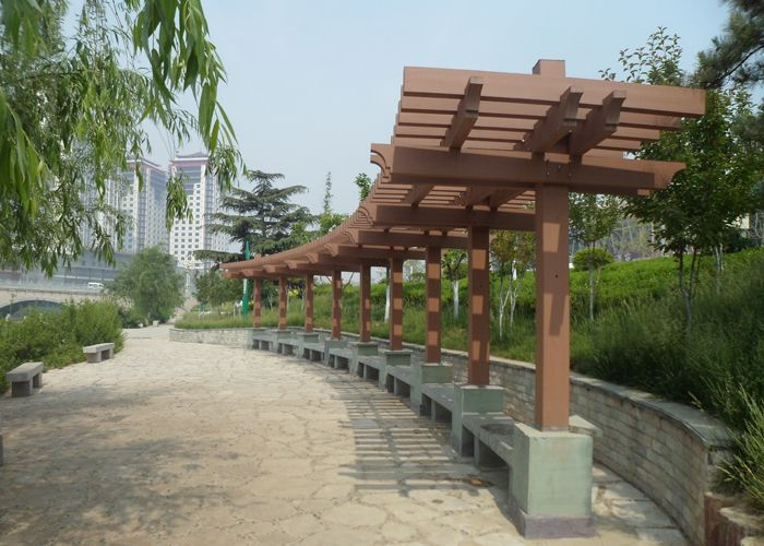 Garden Outdoor Cheap Pergola Idear Kits Made Of Recycled Materials
