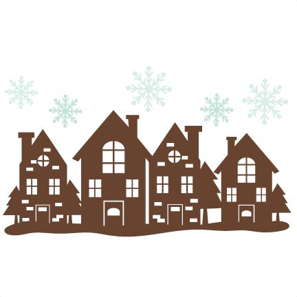 Christmas House Border SVG cutting files free svg cuts