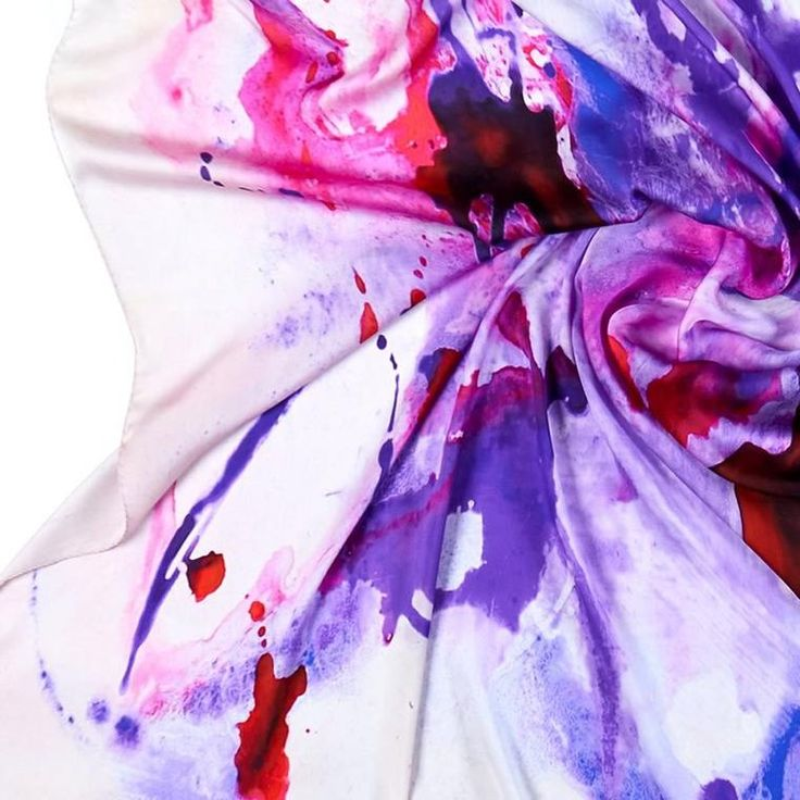 ANTORINI Purple Silk Scarf