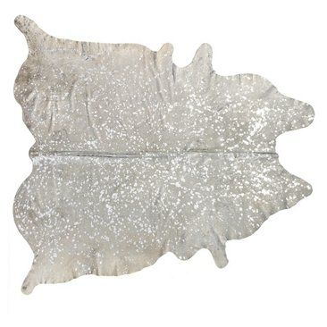 Check out this item at One Kings Lane! 6'x7' Zephyr Hide, Natural/Silver