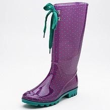Tie Rainboots - Purple/Green