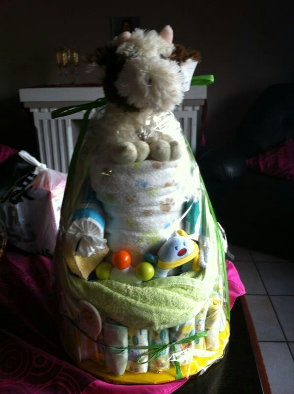 Gift idea 5- baby clothing 3 tier layer cake