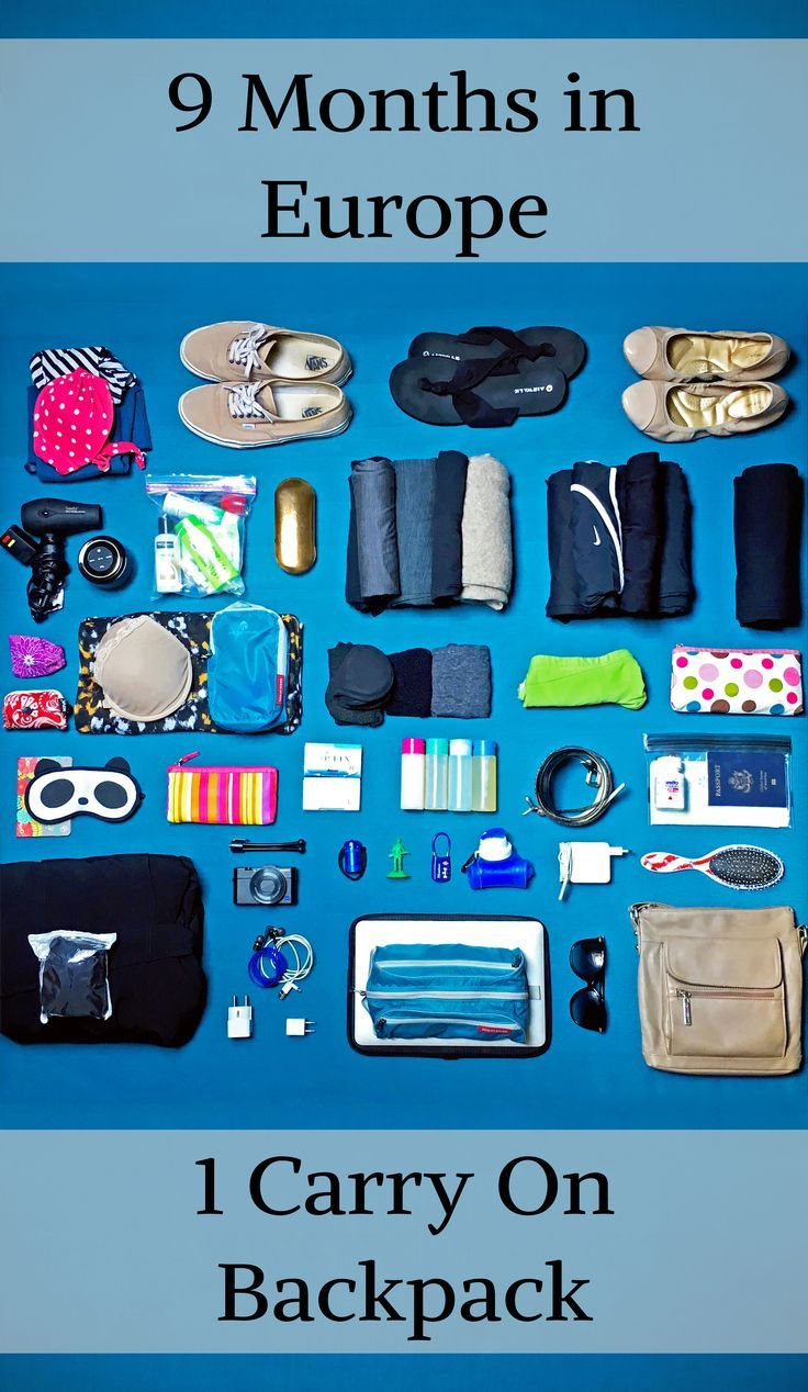 It sounds crazy, but it's totally possible!! This is the perfect packing list for women who are doing lightweight, longterm, budget travel to Europe (or anywhere)! It would also work for a RTW - round the world - packing list with a few modifications. The best travel clothes, accessories, and more.