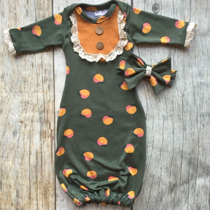 A personal favorite from my Etsy shop https://www.etsy.com/listing/471394718/baby-girl-gown-peach-baby-southern-baby