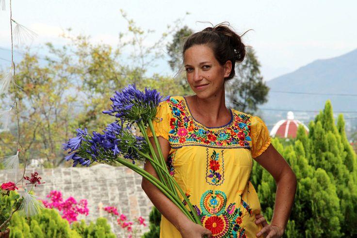 Minikleider - Mexiko Sommerkleid *FLORIDA* M, L * Oaxacan Dress - ein…