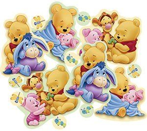 Pooh Baby Days Confetti 2/3oz by HALLMARK MARKETING CORPORATION. $6.21. Beautiful design!. Includes 2/3 oz of confetti.. Based on the famous Winnie The Pooh and friends!. Great for baby showers!. Perfect for table decorations.. Place in a gift box, envelope or sprinkle on a table. Each 2/3oz package of Pooh Baby Days confetti features baby Pooh, Piglet, Eeyore and Tigger too!
