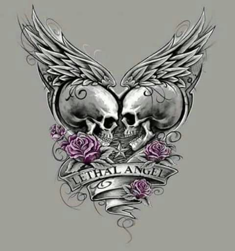True love instead of lethal angel tattoos pinterest for Skull love tattoos