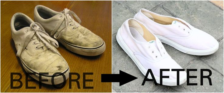 How to clean white canvas shoes with baking soda | Vans | Converse | Adi...