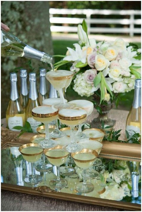 #champagne wedding tower  ... Wedding ideas for brides, grooms, parents & planners ... https://itunes.apple.com/us/app/the-gold-wedding-planner/id498112599?ls=1=8 … plus how to organise an entire wedding, without overspending ♥ The Gold Wedding Planner iPhone App ♥
