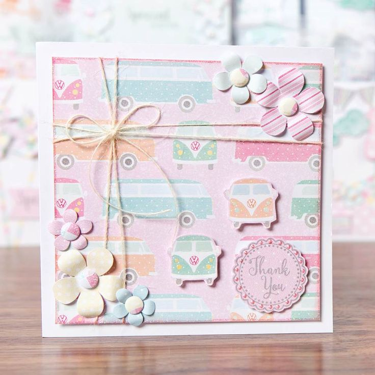 Beautiful campervan and flower embellished card from @CraftworkCards Summer Days! Shop now at C+C: http://www.createandcraft.tv/pp/craftwork-cards-summer-days---cards%2c-ins-345342?p=1 #cardmaking #papercraft