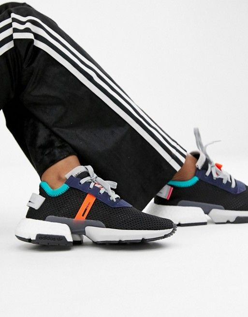 adidas Originals Pod-S3.1 Sneakers In Black Multi in 2019   Outfit inspo    Sneakers, Adidas originals, Adidas 22507605ba7