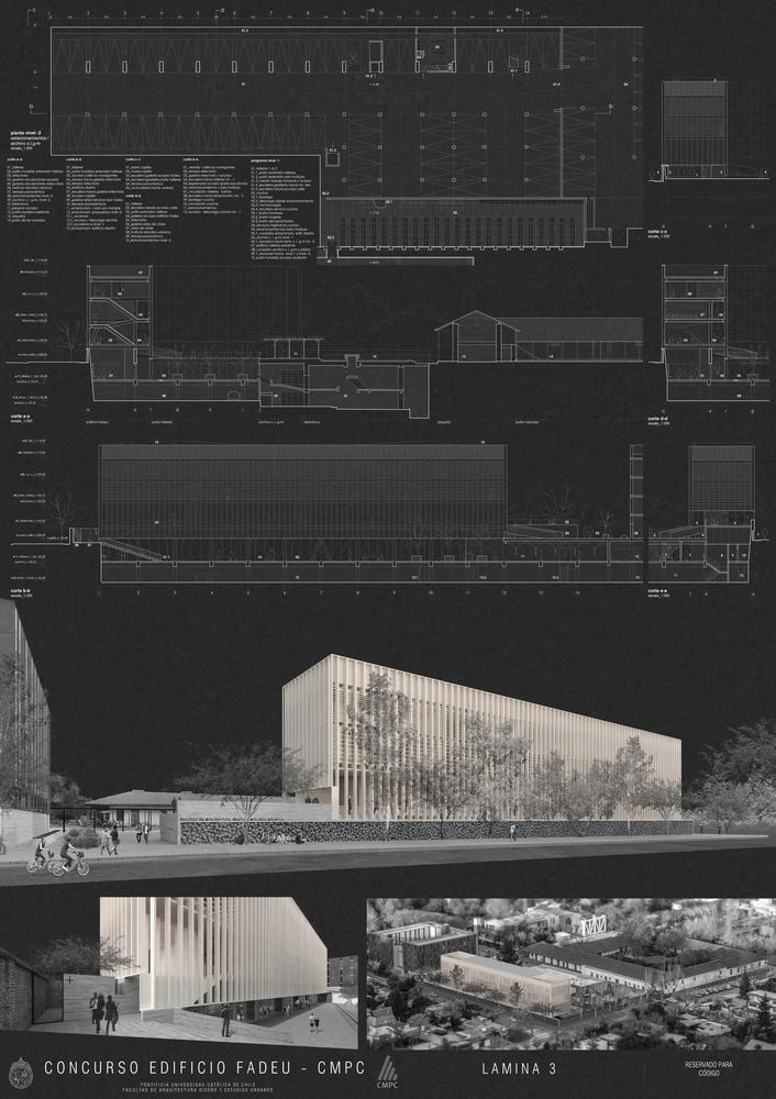 Galería - Segundo lugar en concurso de futuro edificio FADEU-CMPC / Chile - 9