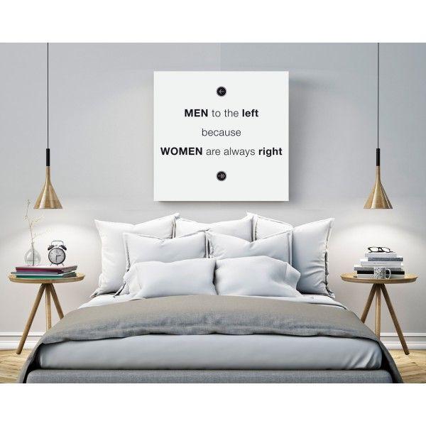 """Canvas """"Women are always right"""" (a partire da euro 27,90)"""