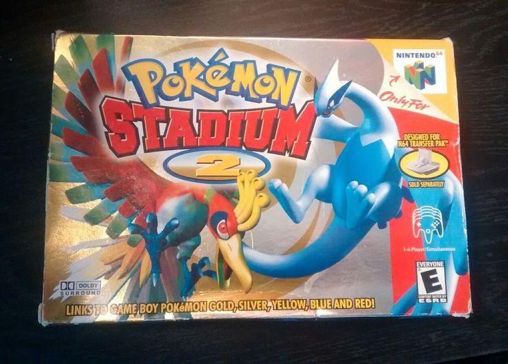 Pokemon Stadium 2 (Nintendo 64, 2001) Complete in Box GREAT CONDITION