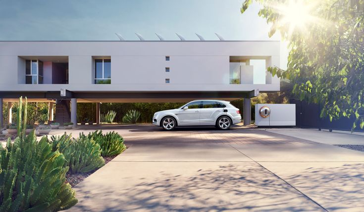 The Starck Power Dock works alongside the Bentayga Hybrid – Bentley's first hybrid car, which combines an electric motor with a petrol engine.