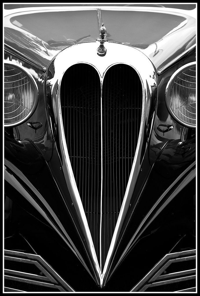 Classic Cars -                                                      1934 Brewster Town Car ~ Identified by its swoopy fenders and a heart-shaped grille and selling for only 3,500. dollars. Brewsters were sold at Rolls-Royce showrooms