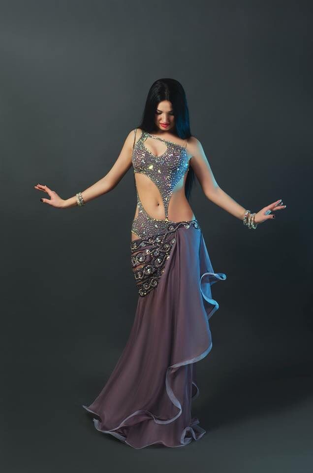 You can see the large Crystal AB shapes from here!  Check out that triangle stone on the bodice...