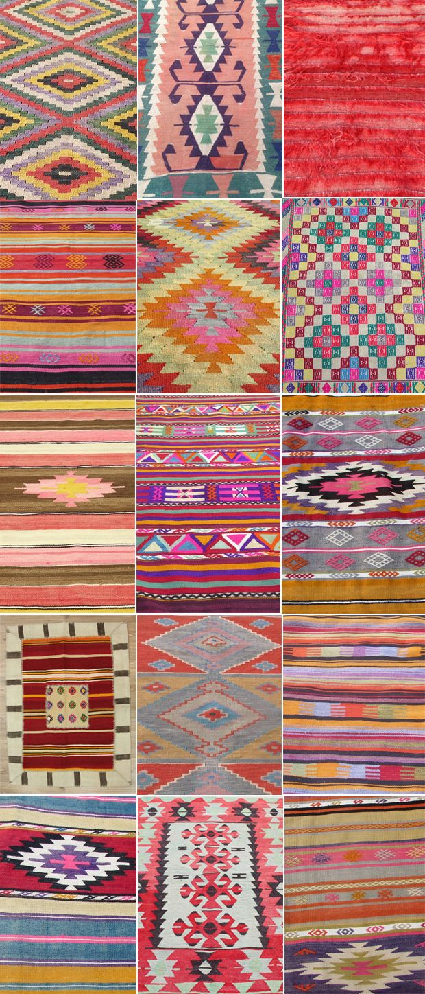 """When searching for rugs on eBay and Etsy, I use search terms like """"vintage kilim rug,"""" (also try spelling Kilim with an 'e' : """"Kelim""""), """"vintage Berber rug"""" (those are Moroccan and have a different look but are also really beautiful) and """"vintage Anatolian rug."""" On eBay I try and actually do the auctions (instead of 'Buy it Now') because in my experience that's how you get the best deals."""