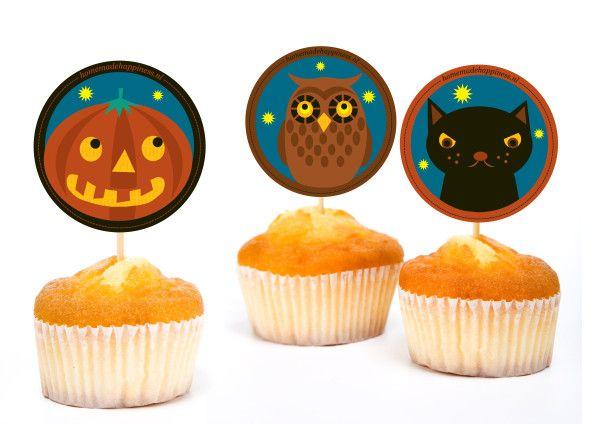Gratis #Halloween of SintMaarten Traktatie: Uil, GriezelPompoen en Zwarte Kat!  Free printable Owl, Pumpkin, Black Cat for Halloween!
