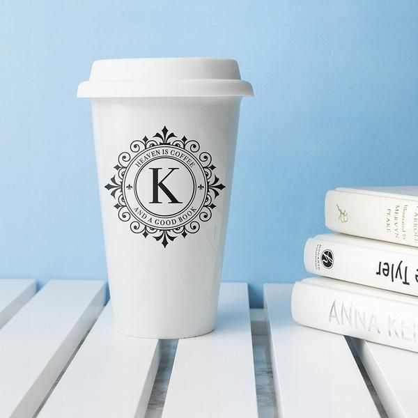 Monogrammed Personalised Ceramic Eco Cup – Luxe Gift Store