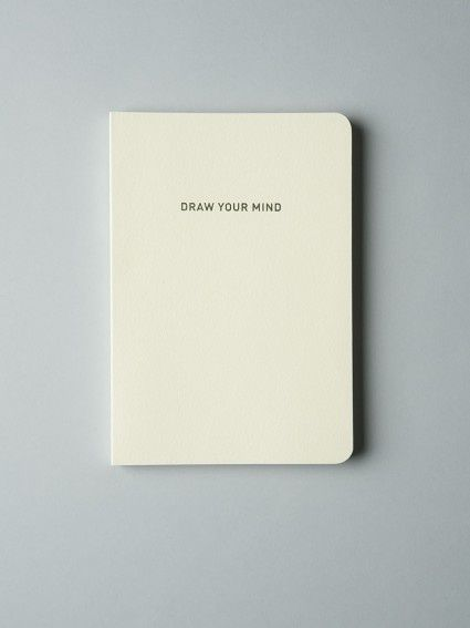 Draw your mind, notebook, clean, nude
