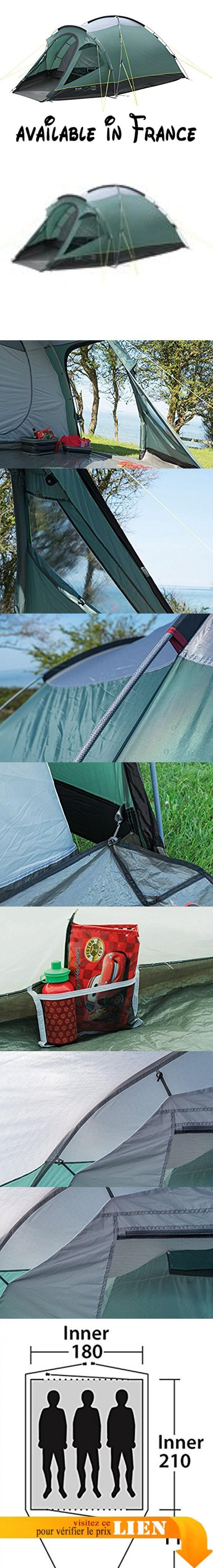B01MYOBQM2 : Outwell Cloud 3 - Tente - gris/vert 2017 tente en tunnel. Cloud 3 offers ample storage and sleeping space for three people in this dome style lightweight tent. With fast easy pitching its sturdy stable frame delivers camping comfort and prote