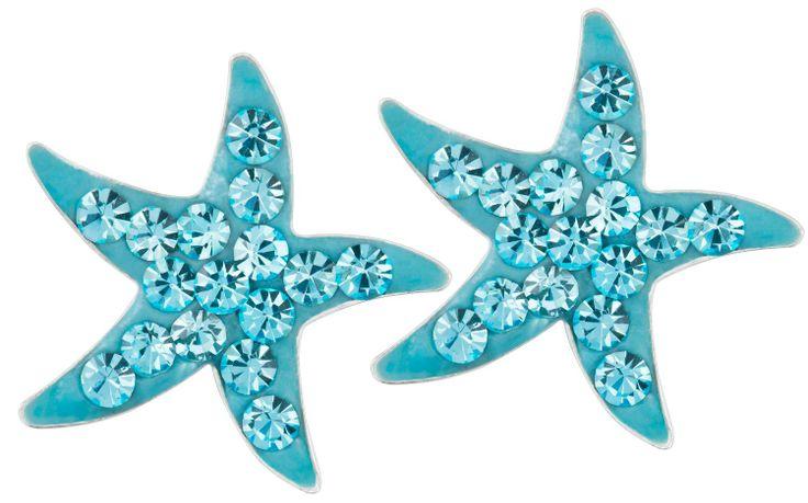 Stud earrings - Blue Starfish - Bijou Brigitte Online Shop NL