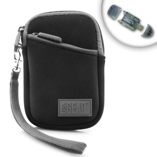 NEO-Cushion Portable Camera Case for Canon PowerShot Elph 320 HS , 110 HS , SX260 HS , A1300 , A2300 , A3400 , A4000 and More Digital Cameras ** Includes USB 2.0 Thumbdrive SD Card Reader **Cameras Cases, Carrie Cases, Neo Cushions Portable, Nikon Coolpix, Digital Cameras, Activities Neo Cushions, Compact Cameras, Nikon Digital, Portable Carrie