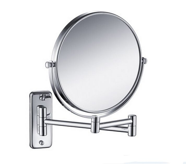 Free Shipping 8' double side antique bathroom mirror, 3x magnification copper wall mounted makeup mirror BM001