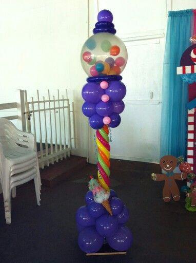 Balloon gumball ananka balloon decorations for Balloon decoration machine
