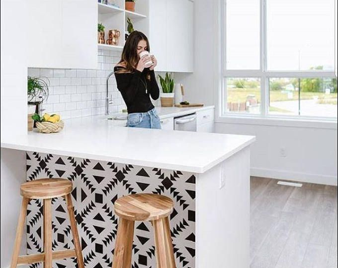 Kitchen And Bathroom Splashback Removable Vinyl Wallpaper Etsy Kitchen Wallpaper Vinyl Wallpaper Kitchens Bathrooms