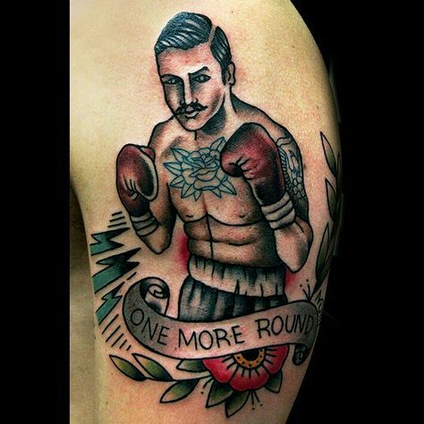 Boxer # boxing #boxer tattoo #traditional tattoo #by vassotats lowbrow  follow me on instagramm:Vasso_lowbrow.etf