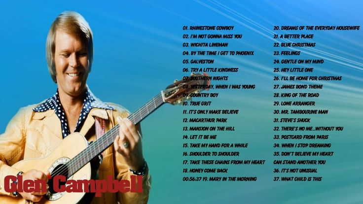 GLEN CAMPBEL || Glen Campbell Greatest Hits Full Album Collection