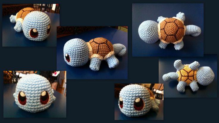 Baby Squirtle ( Pokemon Character) - Free Amigurumi Pattern here: http://aphid777.deviantart.com/art/Baby-Squirtle-with-pattern-429401124 ༺✿Teresa Restegui http://www.pinterest.com/teretegui/✿༻