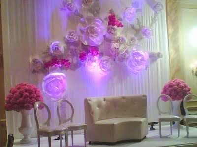 chanel fashion show inspired huge large paper flower wall
