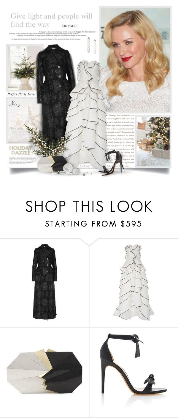 """Perfect Party Dress"" by thewondersoffashion ❤ liked on Polyvore featuring Alexander McQueen, Oscar de la Renta, Jill Haber and Alexandre Birman"