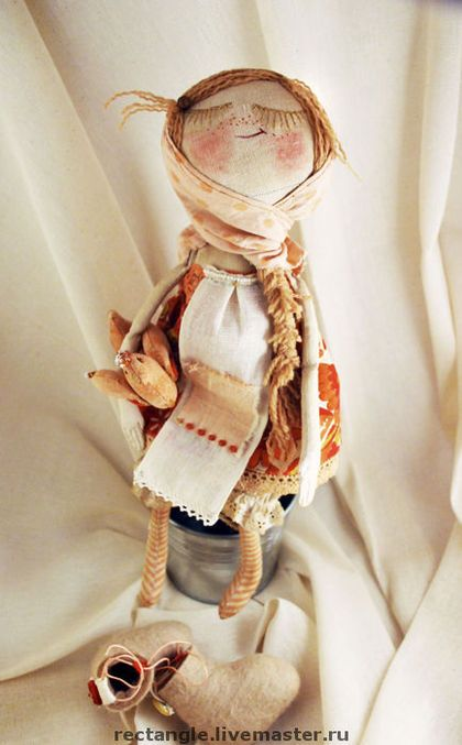 """Человечки ручной работы. Ярмарка Мастеров - ручная работа """"Девочка, петушок и медовая бусинка..."""". Handmade."""