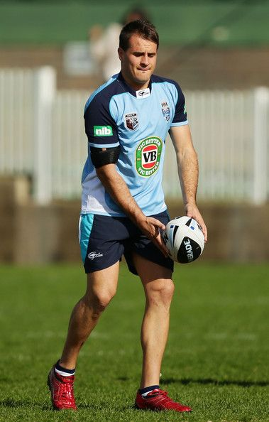 Josh Reynolds handles the ball during a New South Wales Origin training session at Coogee Oval on May 30, 2013 in Sydney, Australia.