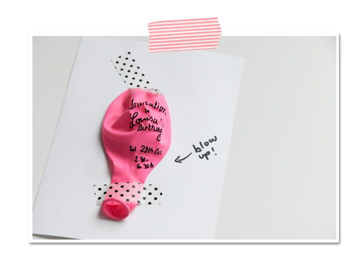 Inflatable birthday invitation...very cute!