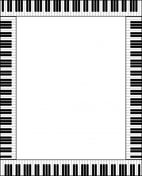 Piano Keyboard Frame Card Free Stock Photo - Public Domain Pictures
