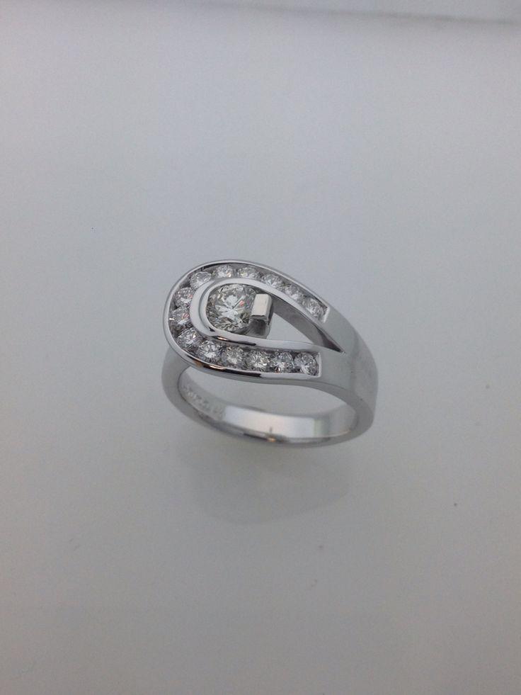 Lady's right hand diamond ring. www.abrahamsjewellery.com