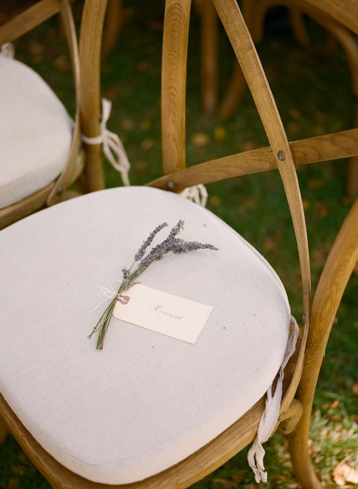 for reserved spots? cute touch Photography By / http://erinheartscourt.com,Wedding Design, Coordination   Floral Design By / http://bashplease.com