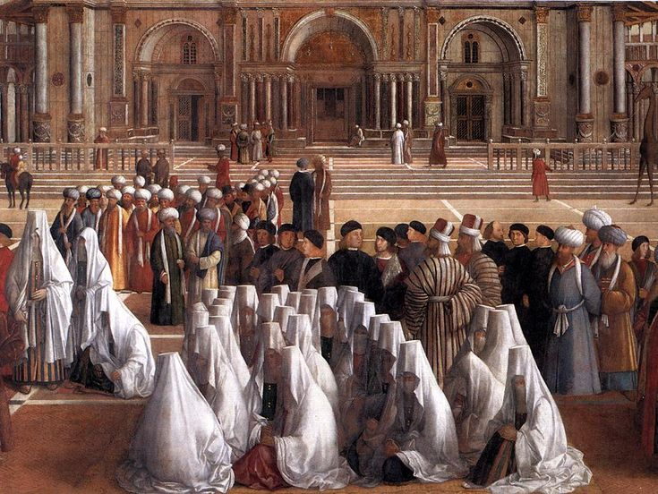 Isabella's SCA pages |--- Islamic Dress in Italian art (Sermon of St. Mark in Alexandria by Bellini 1504)
