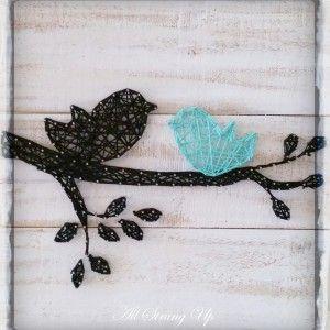 Bird String art all strung up                                                                                                                                                      More