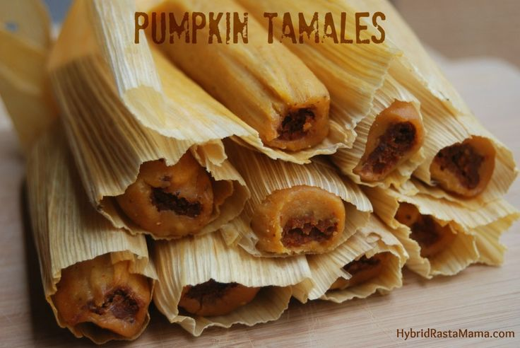 Pumpkin tamales? Yes please? These slightly savory, slightly sweet gems will have your whole family begging for more. Hybrid Rasta Mama really brings it home with this creation.