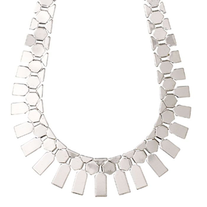 Statement Pilgrim Jewellery Chunky Silver Plated Necklace Now £54.99 from Lizzielane.com http://www.lizzielane.com/product/pilgrim-jewellery-chunky-silver-plated-necklace/